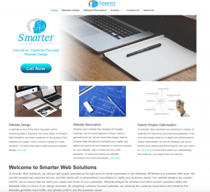 Smarter Web Solutions Website Design